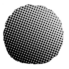 Background Wallpaper Texture Lines Dot Dots Black White Large 18  Premium Flano Round Cushions by Amaryn4rt