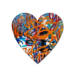 Background Graffiti Grunge Heart Magnet by Amaryn4rt