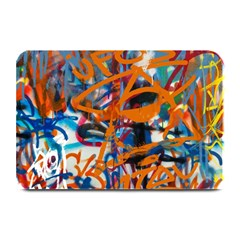 Background Graffiti Grunge Plate Mats by Amaryn4rt