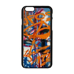 Background Graffiti Grunge Apple Iphone 6/6s Black Enamel Case by Amaryn4rt