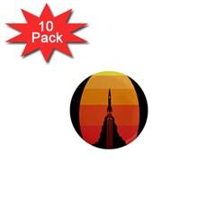 Plane Rocket Fly Yellow Orange Space Galaxy 1  Mini Magnet (10 Pack)  by Alisyart