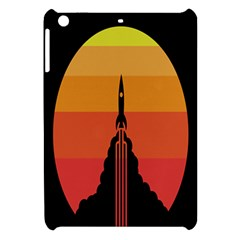 Plane Rocket Fly Yellow Orange Space Galaxy Apple Ipad Mini Hardshell Case by Alisyart