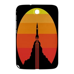 Plane Rocket Fly Yellow Orange Space Galaxy Samsung Galaxy Note 8 0 N5100 Hardshell Case