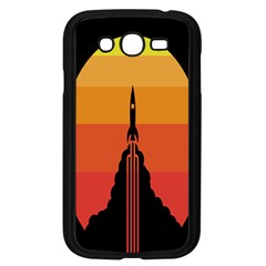 Plane Rocket Fly Yellow Orange Space Galaxy Samsung Galaxy Grand Duos I9082 Case (black)