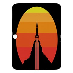 Plane Rocket Fly Yellow Orange Space Galaxy Samsung Galaxy Tab 3 (10 1 ) P5200 Hardshell Case