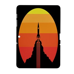 Plane Rocket Fly Yellow Orange Space Galaxy Samsung Galaxy Tab 2 (10 1 ) P5100 Hardshell Case