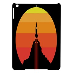 Plane Rocket Fly Yellow Orange Space Galaxy Ipad Air Hardshell Cases by Alisyart
