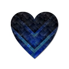 Blue Background Wallpaper Motif Design Heart Magnet by Amaryn4rt