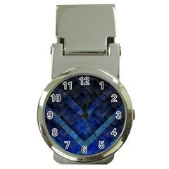 Blue Background Wallpaper Motif Design Money Clip Watches