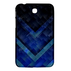 Blue Background Wallpaper Motif Design Samsung Galaxy Tab 3 (7 ) P3200 Hardshell Case  by Amaryn4rt