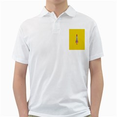 Plane Rocket Space Yellow Golf Shirts