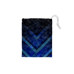 Blue Background Wallpaper Motif Design Drawstring Pouches (XS)  by Amaryn4rt