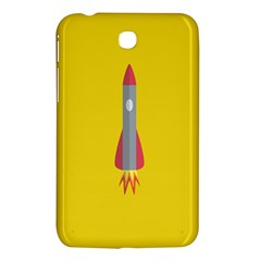 Plane Rocket Space Yellow Samsung Galaxy Tab 3 (7 ) P3200 Hardshell Case  by Alisyart