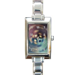 Blur Bokeh Colors Points Lights Rectangle Italian Charm Watch by Amaryn4rt