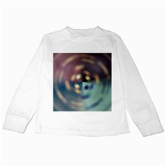 Blur Bokeh Colors Points Lights Kids Long Sleeve T Shirts by Amaryn4rt