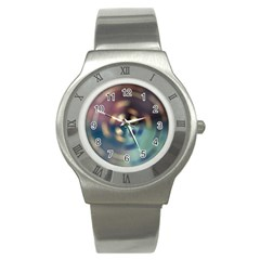 Blur Bokeh Colors Points Lights Stainless Steel Watch by Amaryn4rt