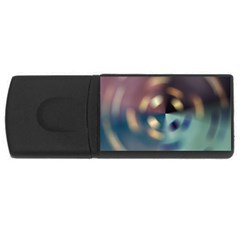 Blur Bokeh Colors Points Lights Usb Flash Drive Rectangular (4 Gb) by Amaryn4rt