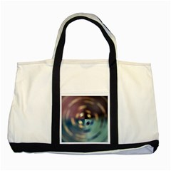 Blur Bokeh Colors Points Lights Two Tone Tote Bag by Amaryn4rt