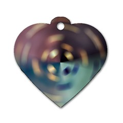 Blur Bokeh Colors Points Lights Dog Tag Heart (one Side) by Amaryn4rt