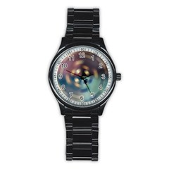 Blur Bokeh Colors Points Lights Stainless Steel Round Watch by Amaryn4rt