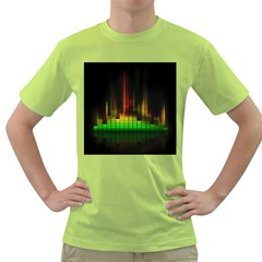 Plaid Light Neon Green Green T Shirt