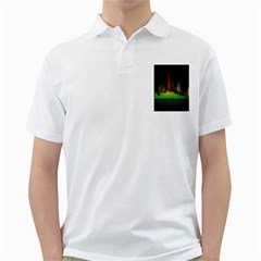 Plaid Light Neon Green Golf Shirts