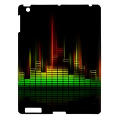Plaid Light Neon Green Apple Ipad 3/4 Hardshell Case by Alisyart
