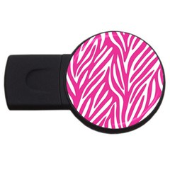 Zebra Skin Pink Usb Flash Drive Round (2 Gb) by Alisyart