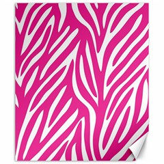 Zebra Skin Pink Canvas 20  X 24   by Alisyart