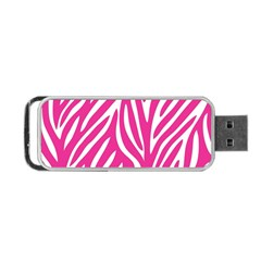 Zebra Skin Pink Portable Usb Flash (two Sides) by Alisyart