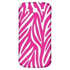 Zebra Skin Pink Samsung Galaxy S3 S Iii Classic Hardshell Back Case by Alisyart