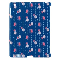 Pig Pork Blue Water Rain Pink King Princes Quin Apple Ipad 3/4 Hardshell Case (compatible With Smart Cover) by Alisyart