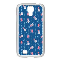 Pig Pork Blue Water Rain Pink King Princes Quin Samsung Galaxy S4 I9500/ I9505 Case (white) by Alisyart