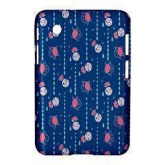 Pig Pork Blue Water Rain Pink King Princes Quin Samsung Galaxy Tab 2 (7 ) P3100 Hardshell Case