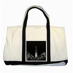 Plane Rocket Grey Two Tone Tote Bag by Alisyart