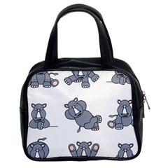 Rhinoceros Animal Rhino Classic Handbags (2 Sides) by Alisyart