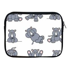 Rhinoceros Animal Rhino Apple Ipad 2/3/4 Zipper Cases by Alisyart