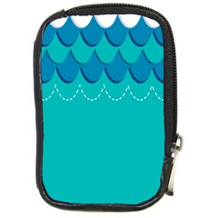 Sea Wave Blue Water Beach Compact Camera Cases by Alisyart