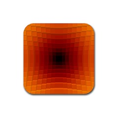 Orange Background Wallpaper Texture Lines Rubber Square Coaster (4 Pack)  by Amaryn4rt