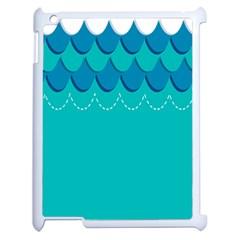 Sea Wave Blue Water Beach Apple Ipad 2 Case (white) by Alisyart