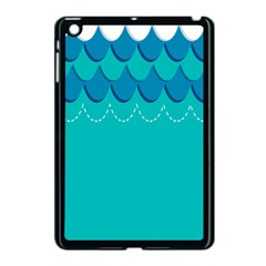 Sea Wave Blue Water Beach Apple Ipad Mini Case (black) by Alisyart
