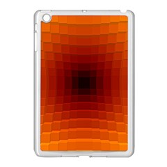 Orange Background Wallpaper Texture Lines Apple Ipad Mini Case (white)