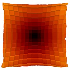 Orange Background Wallpaper Texture Lines Large Flano Cushion Case (two Sides) by Amaryn4rt