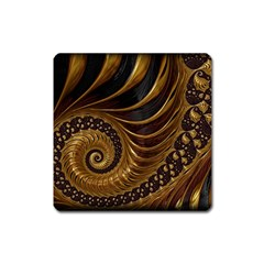 Fractal Spiral Endless Mathematics Square Magnet