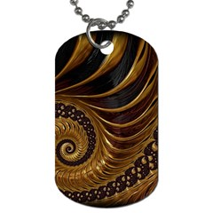 Fractal Spiral Endless Mathematics Dog Tag (two Sides) by Amaryn4rt