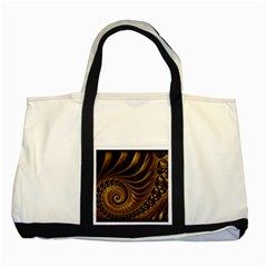 Fractal Spiral Endless Mathematics Two Tone Tote Bag by Amaryn4rt