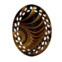 Fractal Spiral Endless Mathematics Oval Filigree Ornament (two Sides) by Amaryn4rt