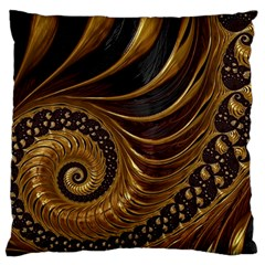 Fractal Spiral Endless Mathematics Large Cushion Case (two Sides) by Amaryn4rt