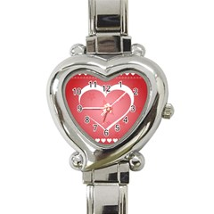 Postcard Banner Heart Holiday Love Heart Italian Charm Watch by Amaryn4rt