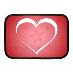 Postcard Banner Heart Holiday Love Netbook Case (medium)  by Amaryn4rt